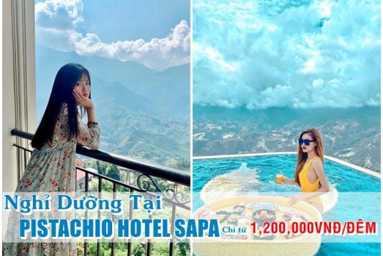 Pistachino Hotel Sapa 4 sao - Mở cửa ban công, một bước chạm vào 'tiên cảnh' chỉ từ 1.200.000vnđ/đêm
